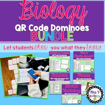 Biology QR Code Dominoes Activity Bundle