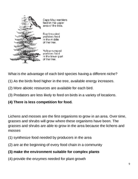 High School Biology Question Bank - Ecology & Environmental Science