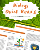 "Biology ""Quick Read"" Reading Activities"