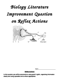 Biology Reflex Action Literature improvement Question
