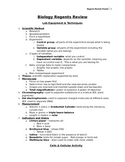 Biology Regents Review Packet