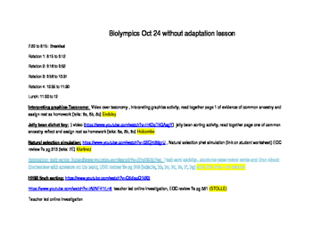 Biology Reporting Category 3, 5 lesson plans with links