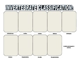Biology Research Project - animal classifications for invertebrates all 9 groups