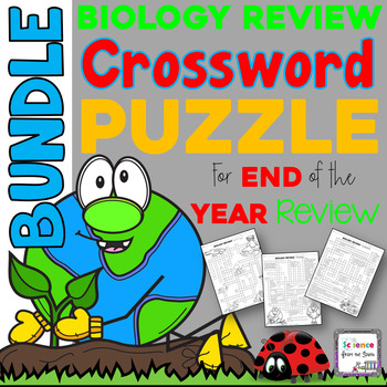 Biology Review Crossword Puzzle Bundle for End of the Year Review