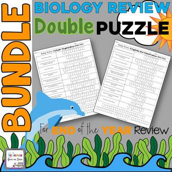 Biology Review Double Puzzle Bundle for End of the Year Review