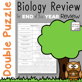 Biology Review Double Puzzle for End of the Year Review