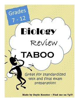 Biology Review - End of Year Taboo