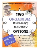 Biology EOC Review - ORGANISMS (Two review options)