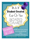 Biology Review - Student Created Board Games (Includes Study Guides & Rubric!)