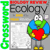 Biology Review of Ecology Crossword Puzzle
