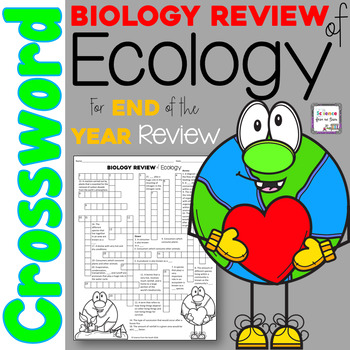 Biology Review Of Ecology Crossword Puzzle By Science From The South