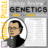 Biology Review of Genetics Double Puzzle