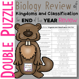 Biology Review of Kingdoms and Classification Double Puzzle