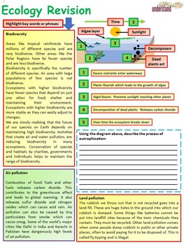 Biology (Science) Ecology Revision Workbook