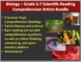 Biology Science Reading Article Bundle - Grade 5-7
