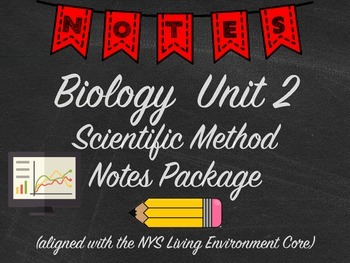 Biology Scientific Method Notes Package Aligned with NYS Living Environment
