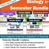 Biology Bundle - Semester Curriculum includes: 5 Units 30 Topics