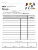 Biology Student Tracker with self reflection and accountability on the back
