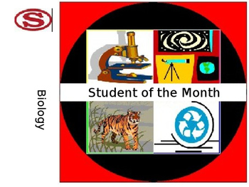 Biology Student of the Month Certificate