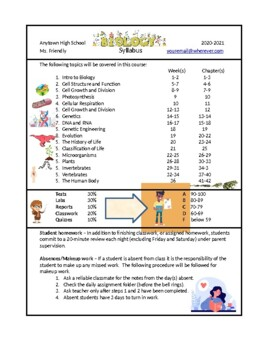 biology syllabus template by jeff carr science tpt