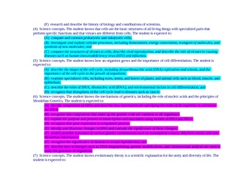 Biology TEKS with STAAR Blueprint Coding