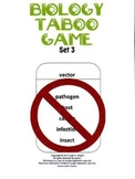 Biology Taboo Game Set 3