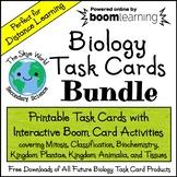 Distance Learning - Biology Task Card Bundle - Printable +