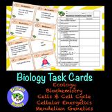 Biology Task Cards Bundle: Ecology, Biochemistry, Cells, E