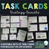 Biology Task Card Bundle- supports distance learning