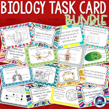 Biology Task Cards Growing Bundle