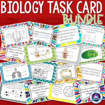 Biology Task Cards Growing Bundle