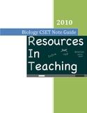 Biology Teacher's Note Guide