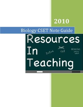 Biology Teacher's Note Guide
