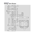 Biology Terms Crossword Puzzle (Scientific Method, Cell Pa