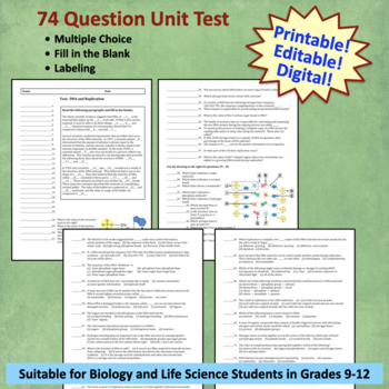 DNA and Replication Unit Test