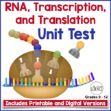 RNA, Transcription and Translation Test for Grades 8-12