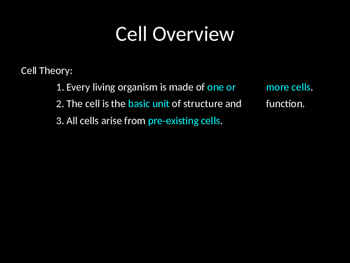 Biology! Introduction to the Cell