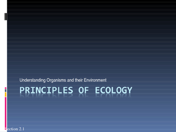 Biology - The Principles of Ecology (Chapter 2)