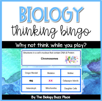 Biology Thinking Bingo (PDF)