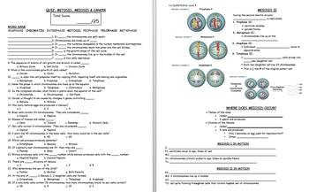 Biology Unit: Mitosis, Meiosis & Cancer *Bundle*