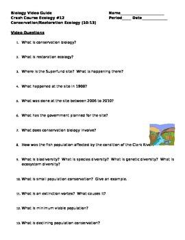 Biology Video Guide Crash Course Ecology #12 Conservation & Restoration Ecology