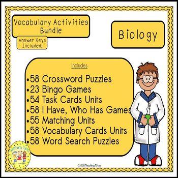 Biology Vocabulary Activities