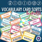 Biology Vocabulary Card Sort Bundle