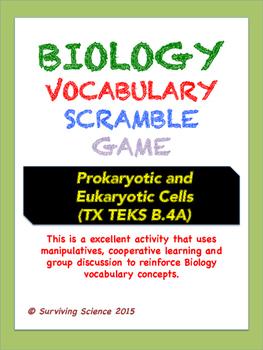 Biology Vocabulary Scramble Game: Prokaryotic and Eukaryot