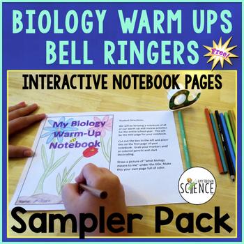 Biology Warm Ups Bell Ringers Interactive Notebooks Sampler