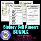 Biology Warm-ups: Ecology, Biochemistry, Cells, Energetics, & Genetics {NO PREP}