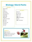 Biology Word Parts