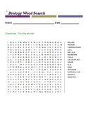 Biology Word Search