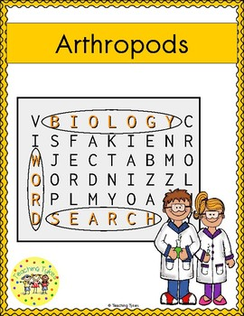 Arthropods Word Search