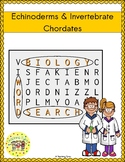 Echinoderms and Invertebrate Chordates Word Search